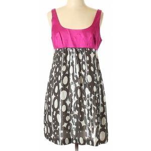 {Trina Turk} Hot Pink & Metallic Circle Dress